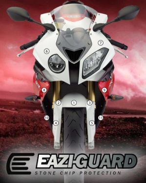 Eazi-Guard Paint Protection Film for BMW S1000RR HP4 2009 - 2014, gloss or matte