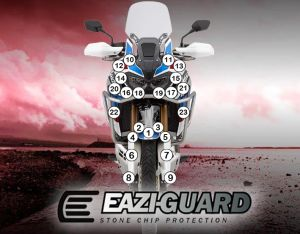 Eazi-Guard Paint Protection Film for Honda Africa Twin Adventure Sports 2018 – 2019, gloss or matte