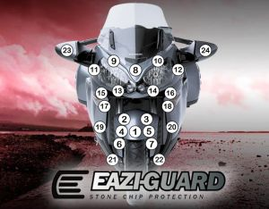 Eazi-Guard Stone Chip Paint Protection Film for Kawasaki 1400GTR 2010 - 2017