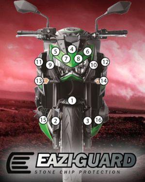 Eazi-Guard Paint Protection Film for Kawasaki Z800, gloss or matte
