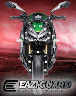 Eazi-Guard Paint Protection Film for Kawasaki Z1000 2014 - 2017, gloss or matte