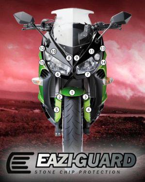 Eazi-Guard Paint Protection Film for Kawasaki Ninja 1000 2011 - 2016, gloss or matte