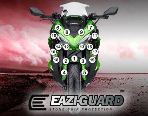 Eazi-Guard Paint Protection Film for Kawasaki Ninja 1000 2017 - 2019, gloss or matte