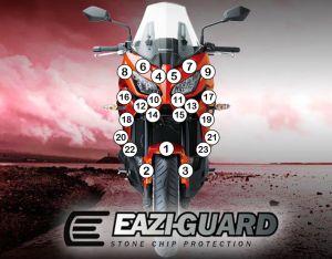 Eazi-Guard Paint Protection Film for Kawasaki Versys 1000 2015 - 2018, gloss or matte