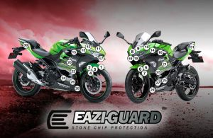 Eazi-Guard Paint Protection Film for Kawasaki Ninja 400, gloss or matte