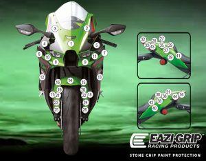 Eazi-Guard Paint Protection Film for Kawasaki ZX-10RR, gloss or matte