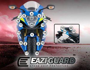 Eazi-Guard Paint Protection Film for Suzuki GSX-R 600 / 750 2011 - 2018, gloss or matte