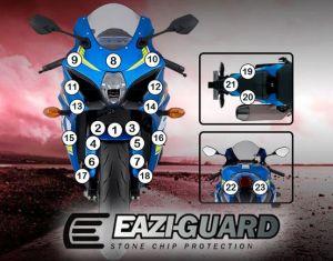 Eazi-Guard Paint Protection Film for Suzuki GSX-R 1000, gloss or matte