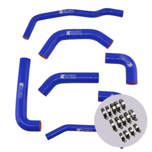 Eazi-Grip Silicone Hose and Clip Kit for Kawasaki ZX-10R 2016 - 2019, blue