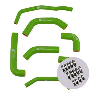 Eazi-Grip Silicone Hose and Clip Kit for Kawasaki ZX-10R 2016 - 2019, green