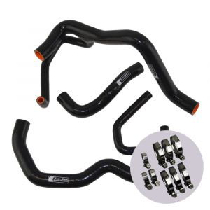 Eazi-Grip Silicone Hose and Clip Kit (Race) for Kawasaki ZX-6R 2009 - 2019, black