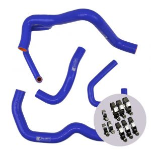 Eazi-Grip Silicone Hose and Clip Kit (Race) for Kawasaki ZX-6R 2009 - 2019, blue