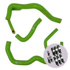 Eazi-Grip Silicone Hose and Clip Kit (Race) for Kawasaki ZX-6R 2009 - 2019, green