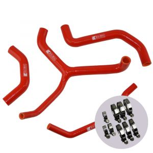 Eazi-Grip Silicone Hose and Clip Kit (Race) for Kawasaki ZX-10R 2016 - 2019, red