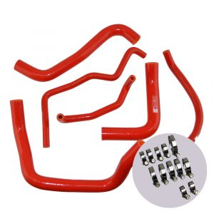 Eazi-Grip Silicone Hose and Clip Kit for Suzuki GSX-R600/750 2011, red