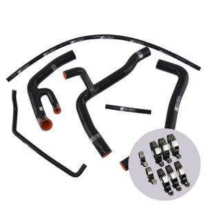 Eazi-Grip Silicone Hose and Clip Kit (Race) for Yamaha YZF-R6, black