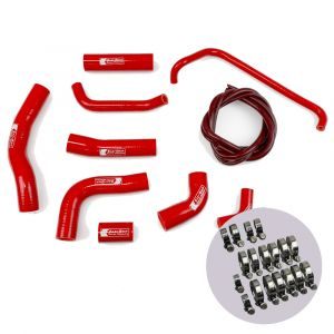Eazi-Grip Silicone Hose and Clip Kit for Yamaha YZF-R6, red